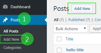 Wordpress post editor kaise open kare
