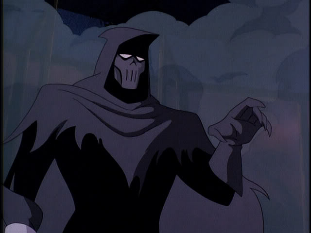 Phantasm pointing in Batman Mask of the Phantasm animatedfilmreviews.filminspector.com