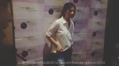 Angel Locsin Does Gwiyomi While Posing For Photos
