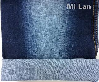 Vải Jean cotton thun xước cộng W73