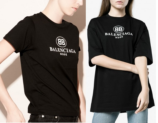 Áo thun nam, nữ Balenciaga BB Mode
