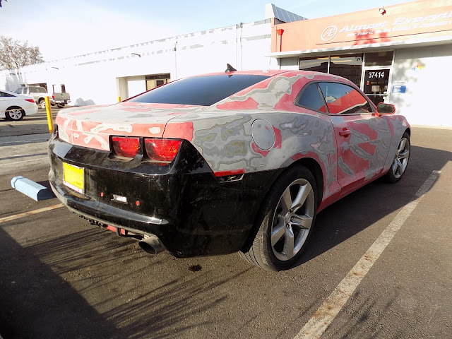 2010 Chevrolet Camaro before overall paint job at Almost Everything Auto Body.