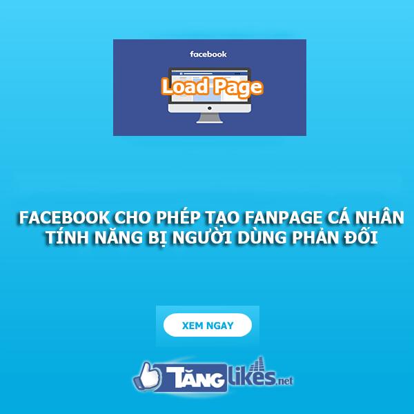 facebook cho phep tao fanpage ca nhan