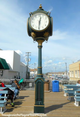 Ocean City Town Clock on Boardwalk in New Jersey