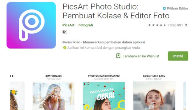 Aplikasi edit foto terbaik selain Picsart