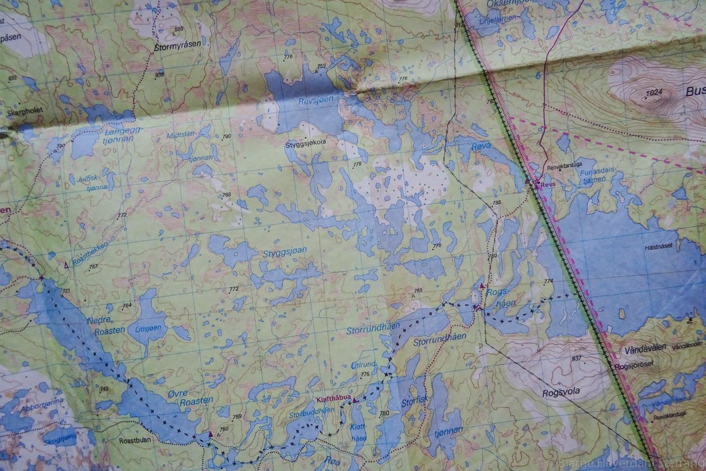 kart over femund Bjarnes turblogg: Tyvek kart over Rogen og Femundsmarka! kart over femund