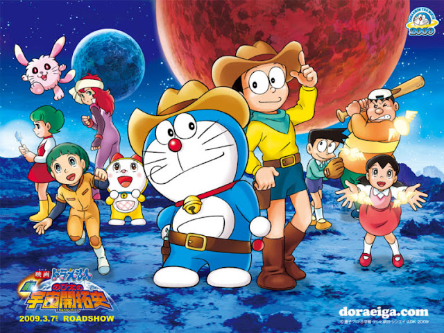 Doraemon And His Friends On Moon HD Wallpapers
