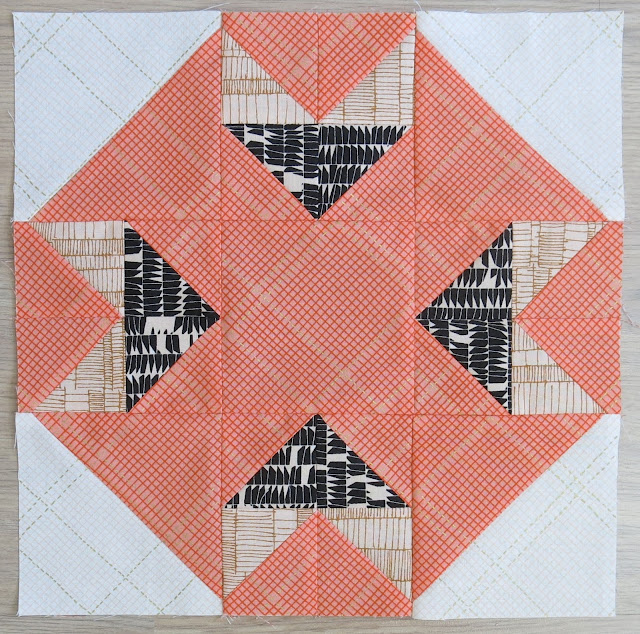 HST Quilt-Along - Blocks #14 - Introspection - Carolyn Friedlander fabrics