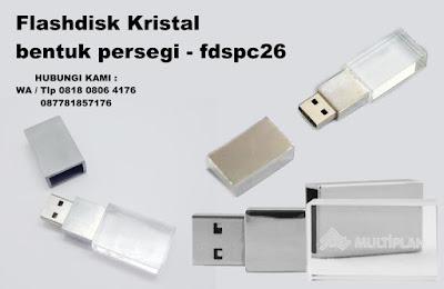 USB Crystal, Flashdisk Kristal bentuk persegi, USB BENTUK CRYSTAL, CRYSTAL USB, Flashdisk Crystal Square, Flashdisk Kristal FDSPC26