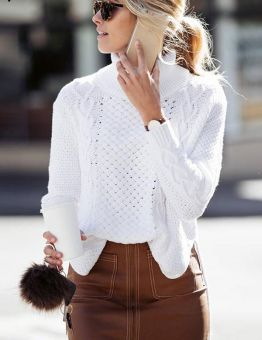 Women's High Neck Knitted Sweater