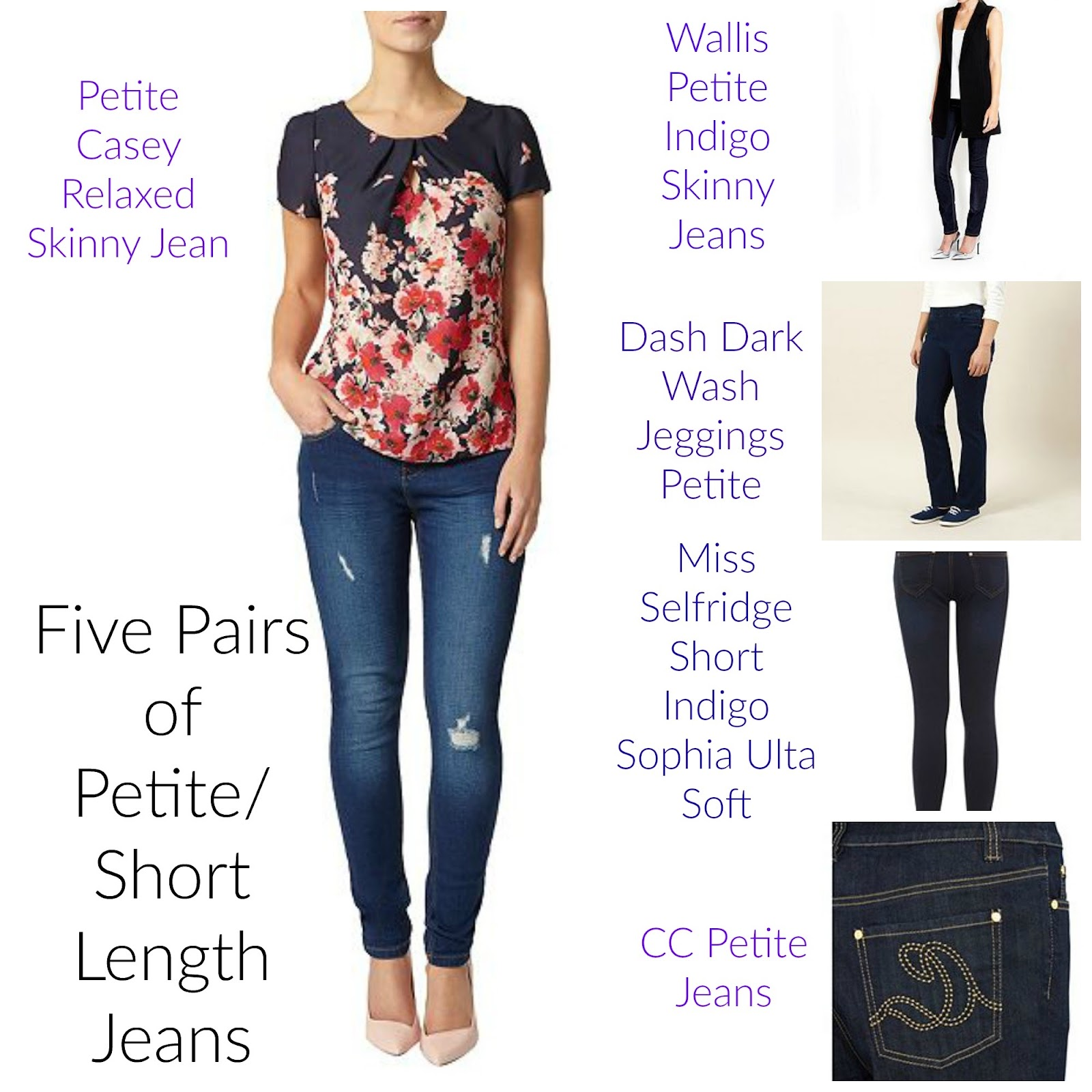 , Style Wishlist:  Five Pairs of Petite Jeans