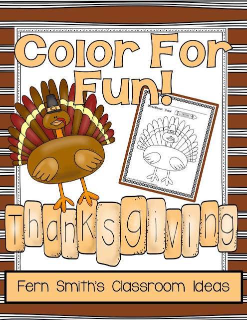 Fern Smith's Classroom Ideas Thanksgiving Color For Fun Printables