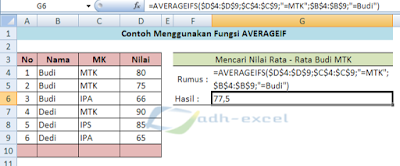 averageifs function in excel