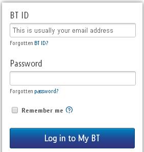 BT Broadband Login