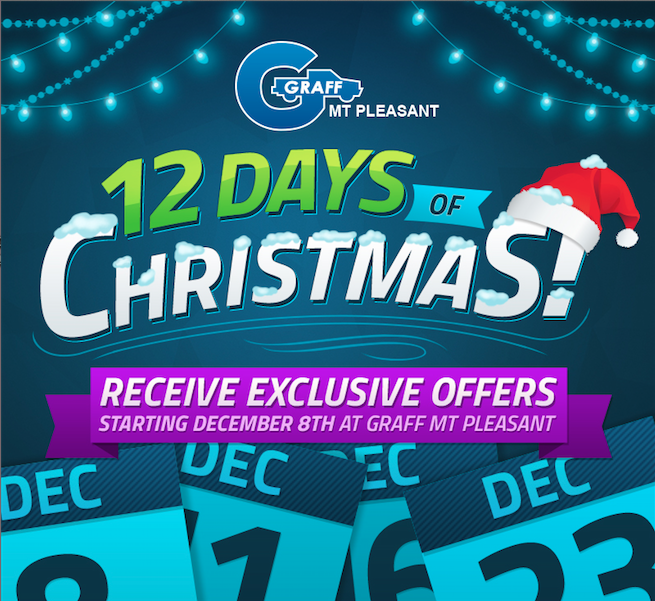 12 Days of Christmas Offers at Graff Mt. Pleasant