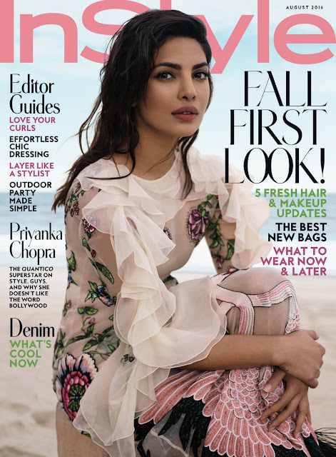 Actress, Singer, @ Priyanka Chopra - InStyle magazine August 2016