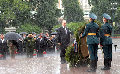 President Vladimir Putin. Wreath-laying ceremony at Tomb of Unknown Soldier.