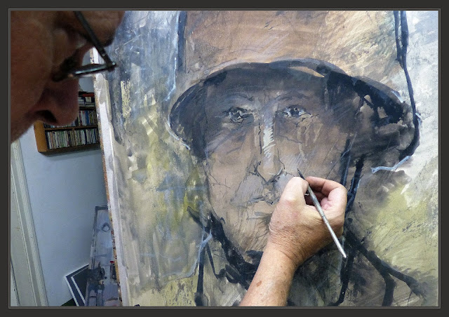 PINTURAS-ARTE-SEGUNDA GUERRA MUNDIAL-PARACAIDISTAS-PINTURA-RETRATOS-SOLDADOS-ALEMANES-FOTOS-PINTANDO-DETALLES-ARTISTA-PINTOR-ERNEST DESCALS