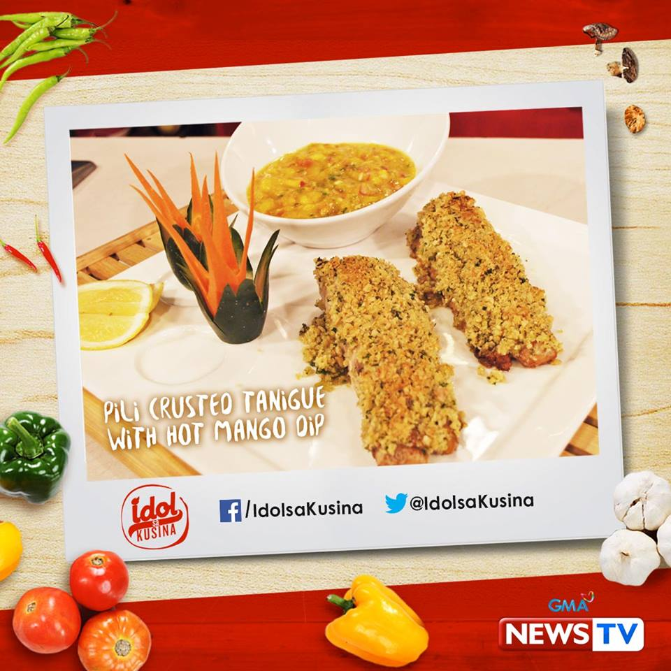 HOW TO MAKE PILI CRUSTED TANIGUE FILLET WITH HOT MANGO DIP ~ PSKMC