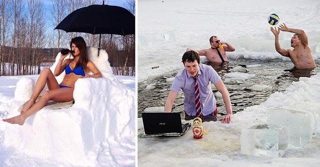 Сумасшедшие фото людей, для которых зима — любимое время года!
