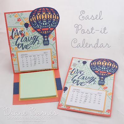 Easel post-it calendars - Up & Away