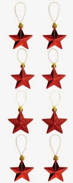 Estrellas rojas para adornar en Navidades
