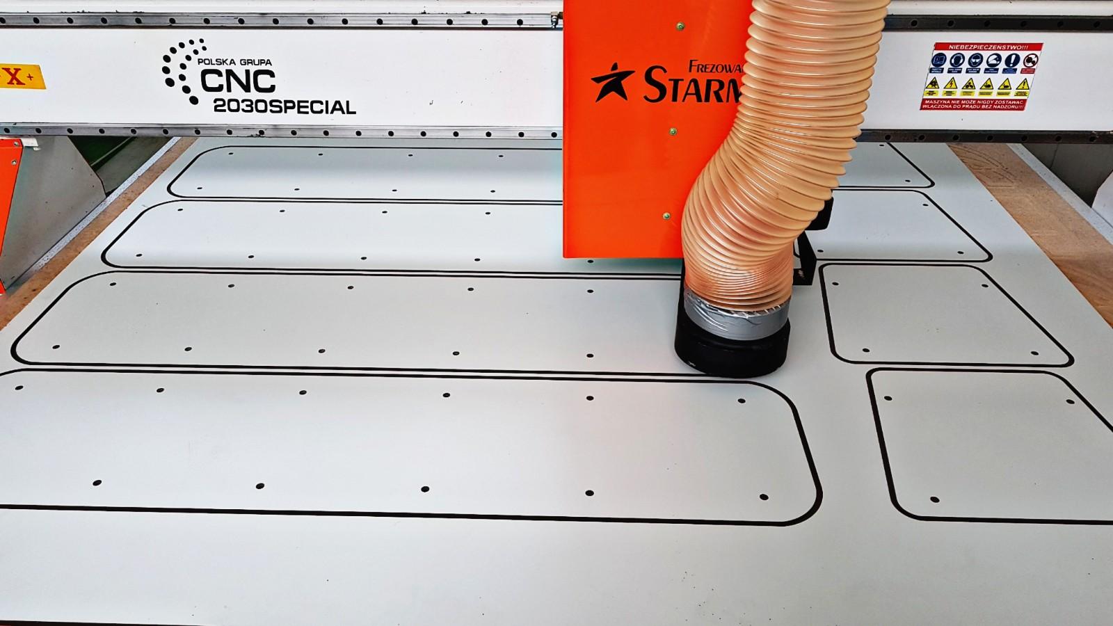 Cięcie i frezowanie płyt hpl elementy na place zabaw Starmax