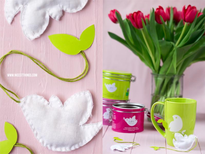 Vögelchen Teebeutel nähen als Ostergeschenk Oster DIY Ostern