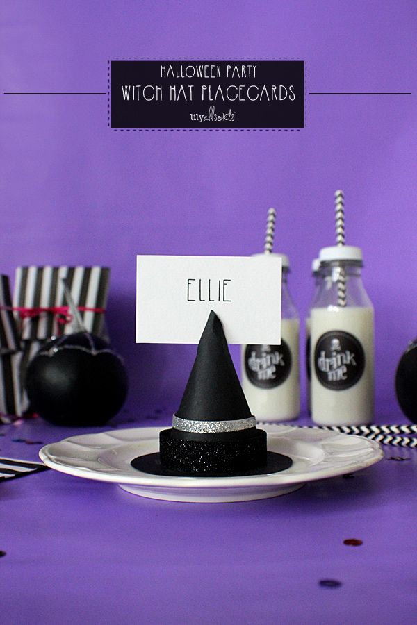 Witch's Hat Place Cards from Lily Allsorts  | Halloween Favorites at www.andersonandgrant.com