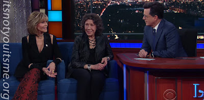 Jane Fonda and Lily Tomlin on Colbert