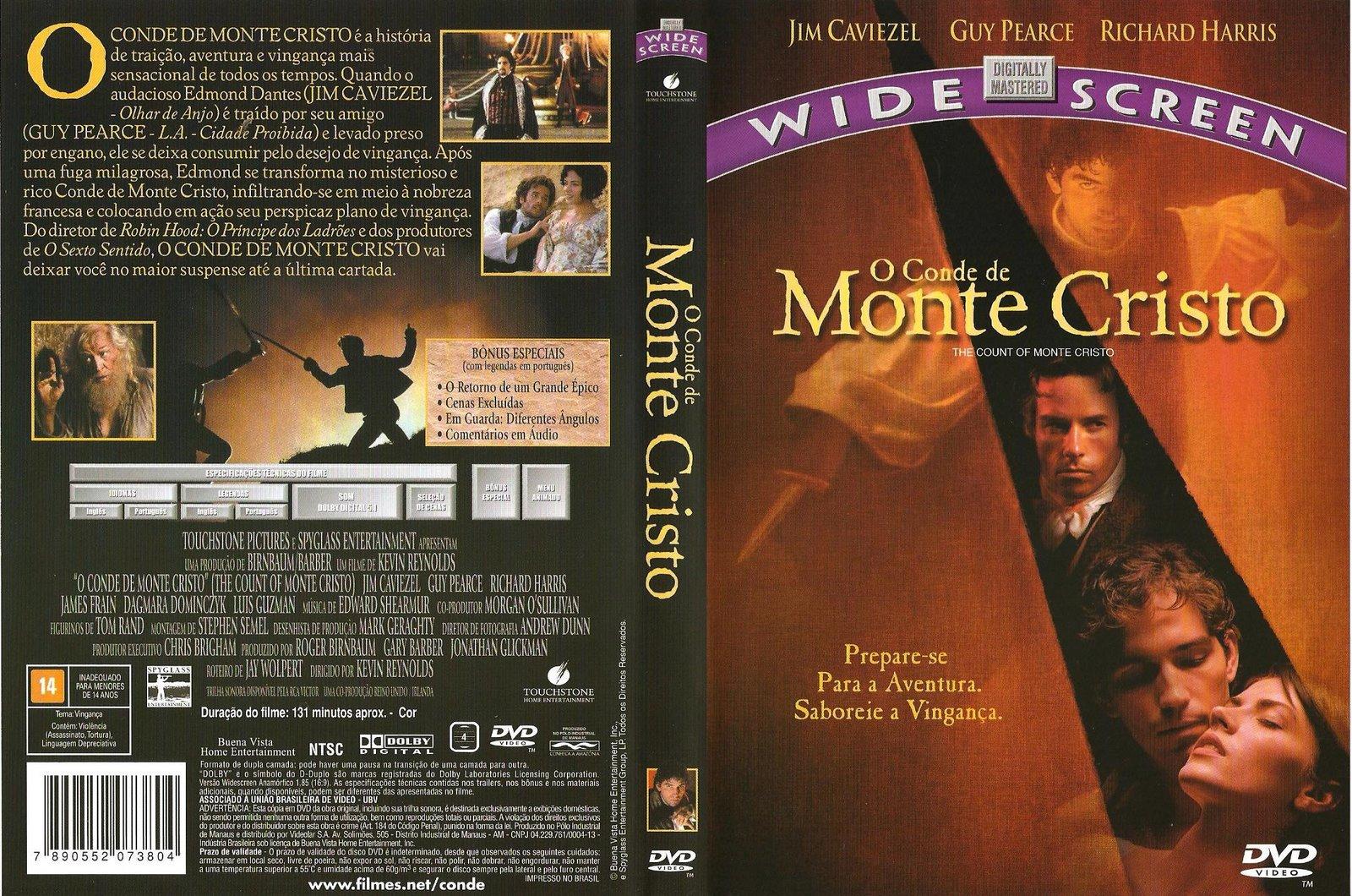 Capas Medina  Somente Capas de DVD O Conde de Monte Cristo