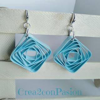 Tutorial-quilling-bisutería-pendientes-y-de-formas-geométricas-azul-Crea2-con-Pasión
