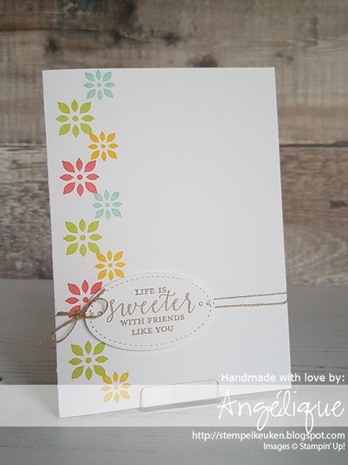de Stempelkeuken Stampin'Up! producten koopt u bij de Stempelkeuken #stempelkeuken #stampinup #stampinupnl #stampinup30 #stamping #stempelen #whisperwhite #poolparty #linenthread #stempeln #knutselen #snailmail #kaartenmaken #papercrafting #papier #onelayercard #cards #friend #vriend #bigshot #denhaag #scheveningen #rotterdam #westland #kijkduin #bso #nso #liefde