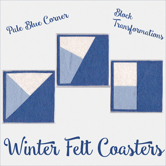 Winter Felt Coasters