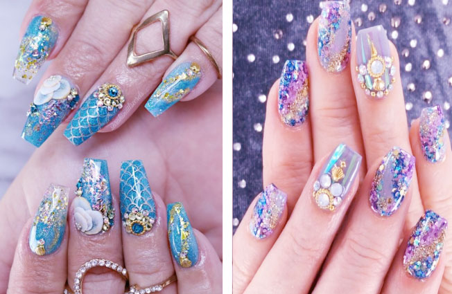 Glamorous Look With Pretty Nail Art