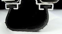 """3"""" Black 1/4"""" T-style Rubber Garage Door Seal"""
