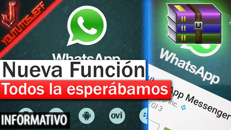 Nueva función de Whatsapp - Comparte cualquier tipo de archivos 2017