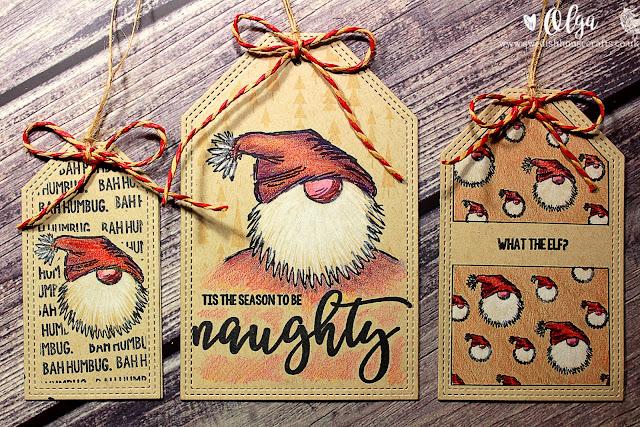 Naughty Santa Tags
