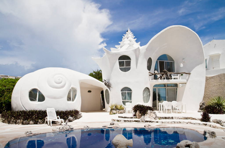 10 Airbnbs That Are So Cool You'll Want To Stay Forever - The Seashell House, Isla Mujeres, Mexico