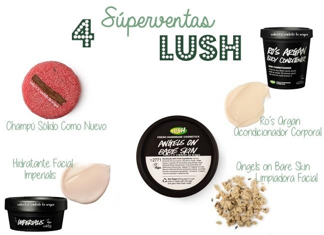 Los 4 productos de LUSH más vendidos