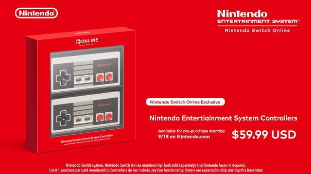 Nintendo Entertiainment Entertainment System Controllers Switch Online special deal offer exclusive typo error
