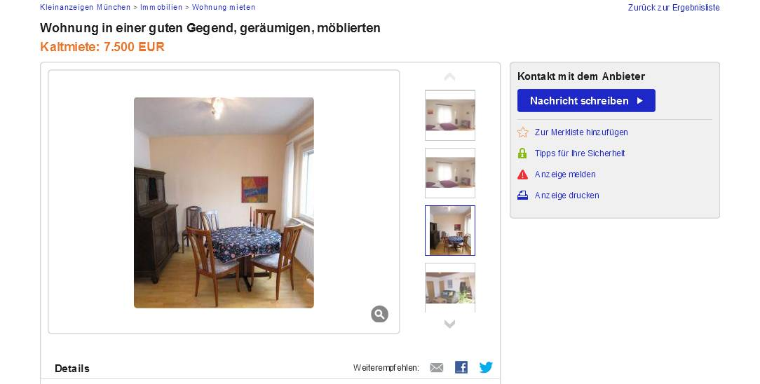 melden bei ebay
