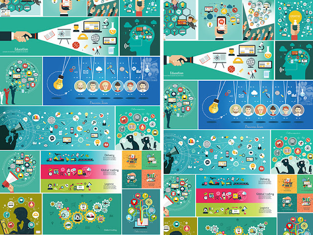 مجموعة تصميمات انفوجرافيك بصيغة EPS & JPG format بحجم 22 ميجا بايت