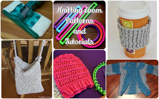 A round up of free Knitting Loom Patterns and Tutorials