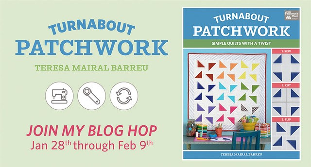 Turnabout Patchwork blog hop | DevotedQuilter.com