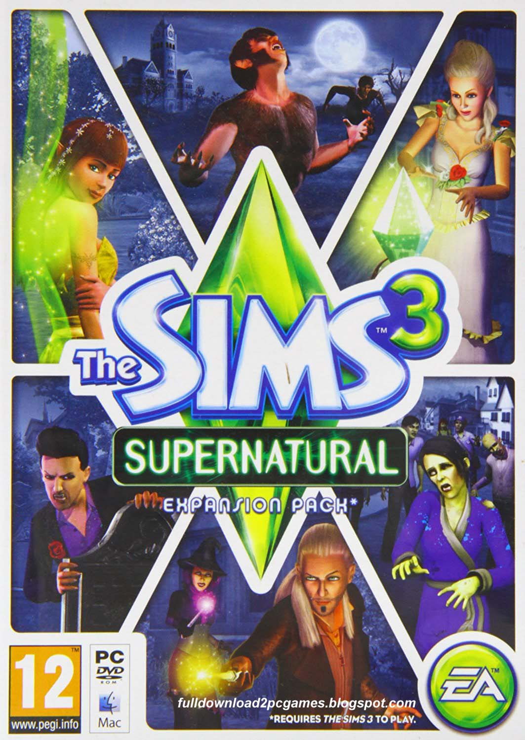 The Sims 3 Supernatural Free Download PC Game - Full Version Games