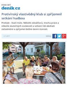 Písecký deník o PVK