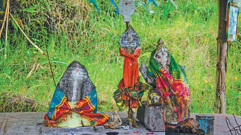 Srilankan Roadside shrines of Lord Ganesh