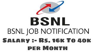 BSNL Job Recruitment 2019 Apply Online For Total 198 Junior Telecom Officer (JTO) vacancies at bsnl.co.in