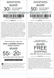 Joann coupons for february 2017